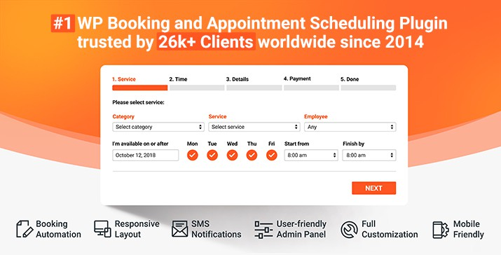 Bookly WordPress Booking System